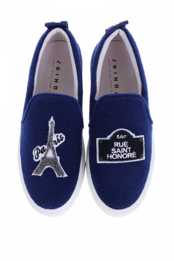 Joshua Sanders Paris 巴黎主題 藍色3CM厚底球鞋      IT 36/40/41