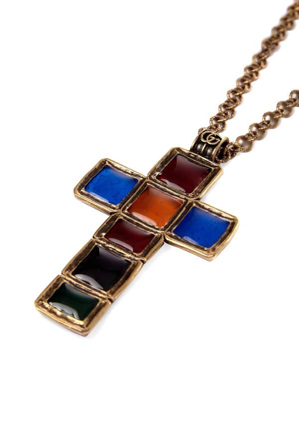 Gucci 彩色琺瑯十字架項鍊