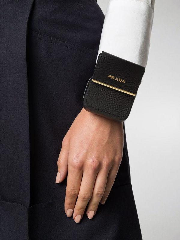 Prada  Saffiano小牛皮零錢袋手環 S/ M