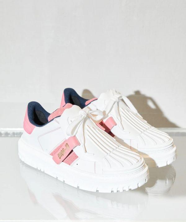 Dior-ID 白色橡膠及小牛皮女款運動鞋 粉色    IT 36.5/37/37.5/38/38.5/39/39.5/40/40.5/41 Bottega Veneta