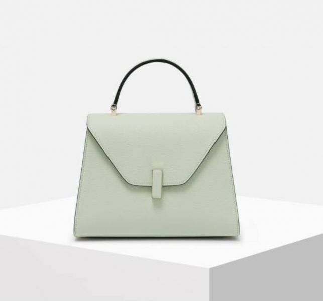 Valextra 義大利頂級品牌Mini Iside 兩用包  Mint薄荷綠