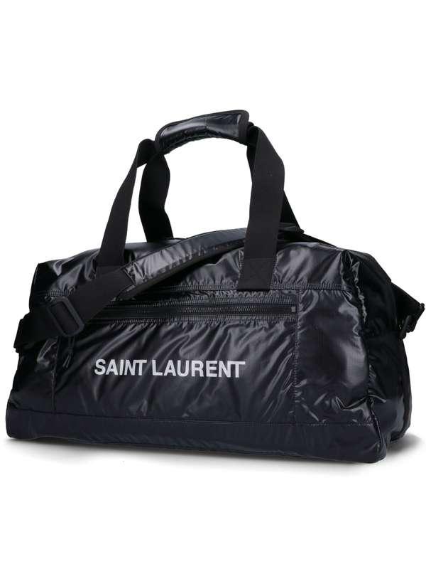 Saint Laurent YSL NUXX DUFFLE 輕盈尼龍旅行袋2用包  黑色 YSL COLLEGE學院包