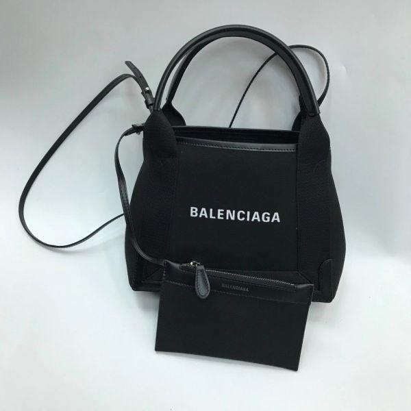 Balenciaga 390346 XS 黑色棉帆布經典帆布 2用包    附可斜背長肩帶