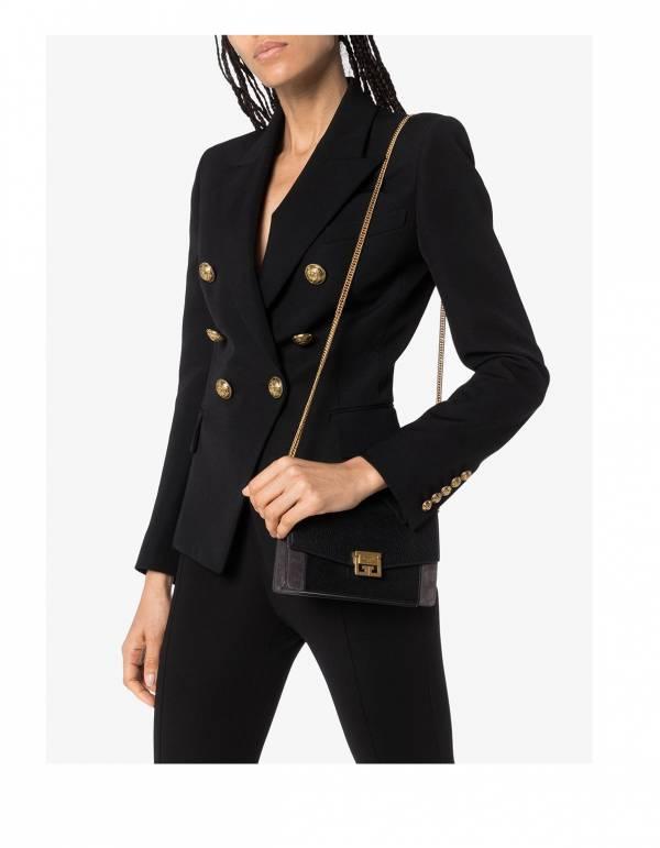 Balmain 巴爾曼女款雙排6釦羊毛斜紋布西裝外套  FR 36S/38M/40L