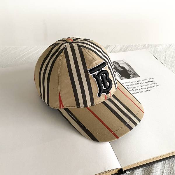 Burberry 標質復古條紋棉質棒球帽   S/M/L