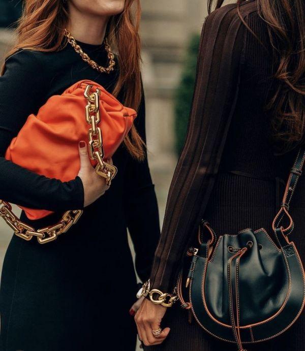 Bottega Veneta  BV Chain 金鍊雲朵包 橙色