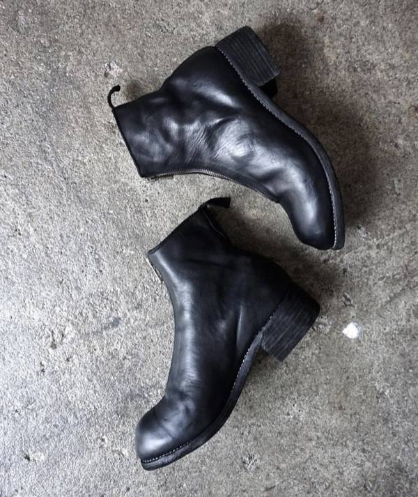 Guidi 女款正面拉鍊馬皮及踝靴 黑色  IT 36/36.5/37/38 DIOR