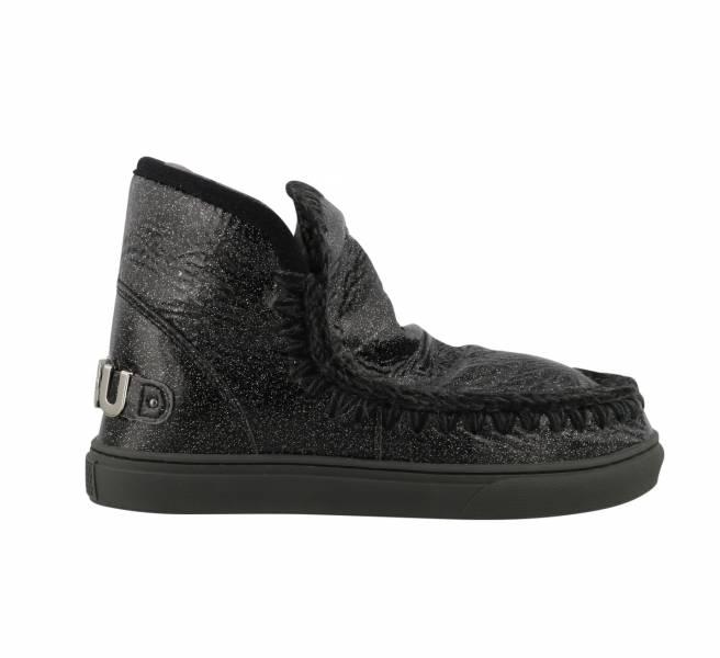Mou英國頂級愛斯基摩Eskimo金屬效果羊毛靴鞋  黑色    IT 36/37/38/39/40/41 YSL COLLEGE學院包