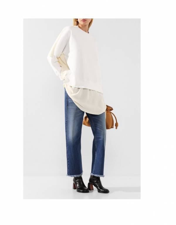 MM6 Maison Margiela 女款流蘇褲管刷舊牛仔褲 XXS/XS/S/M/L/XL