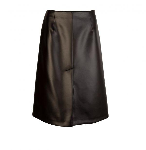 Maison Margiela 女款皮革效果中長半身裙 XXS/XS/S/M/L