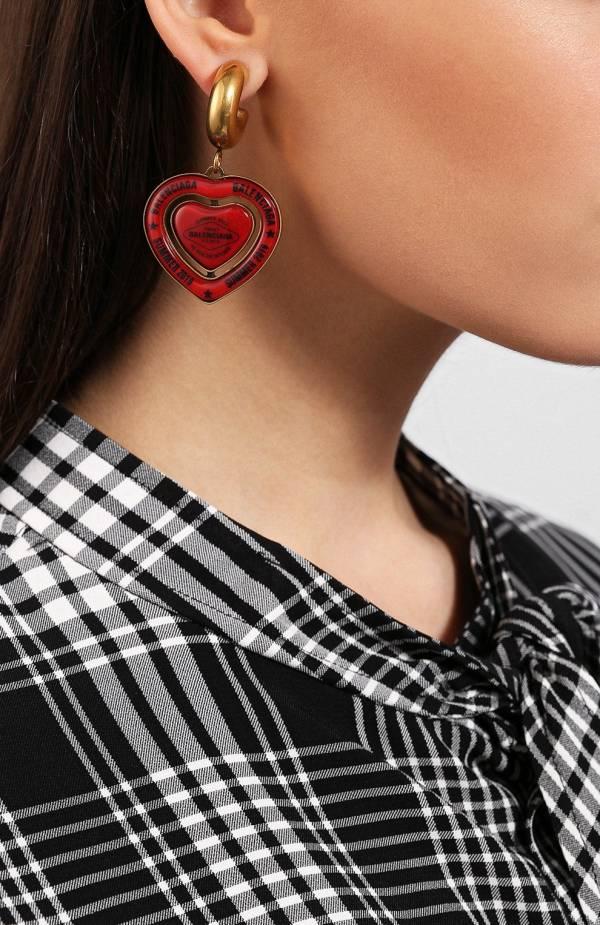 Balenciaga 大型心型吊墜字母耳環 YSL COLLEGE學院包