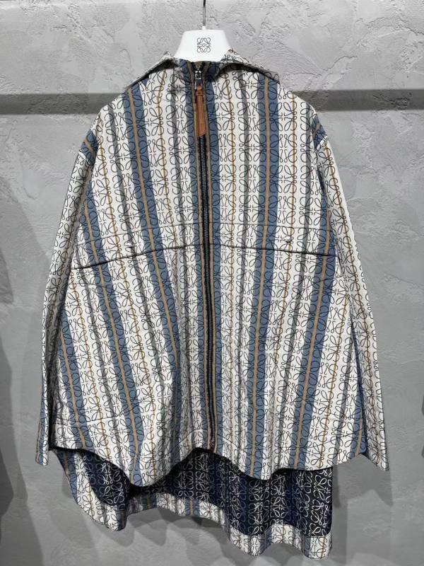 Loewe 女款滿版 Anagram 緹花連帽拉鍊派克大衣  FR36 S/38 M LOEWE,Hammock