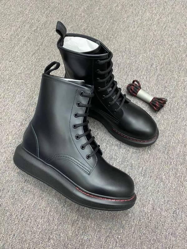 Alexander McQueen 女款小牛皮革軍靴  IT 35/35.5/36.5/37/37.5/38