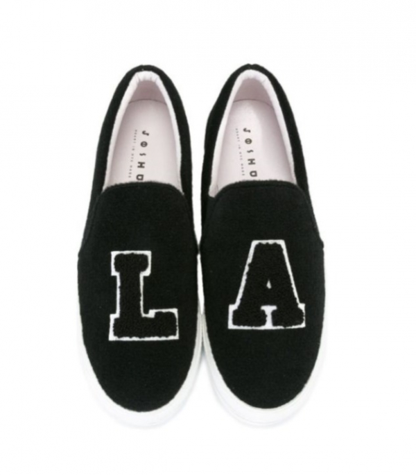 Joshua Sanders LA 4CM底高休閒時尚球鞋     黑色 IT40