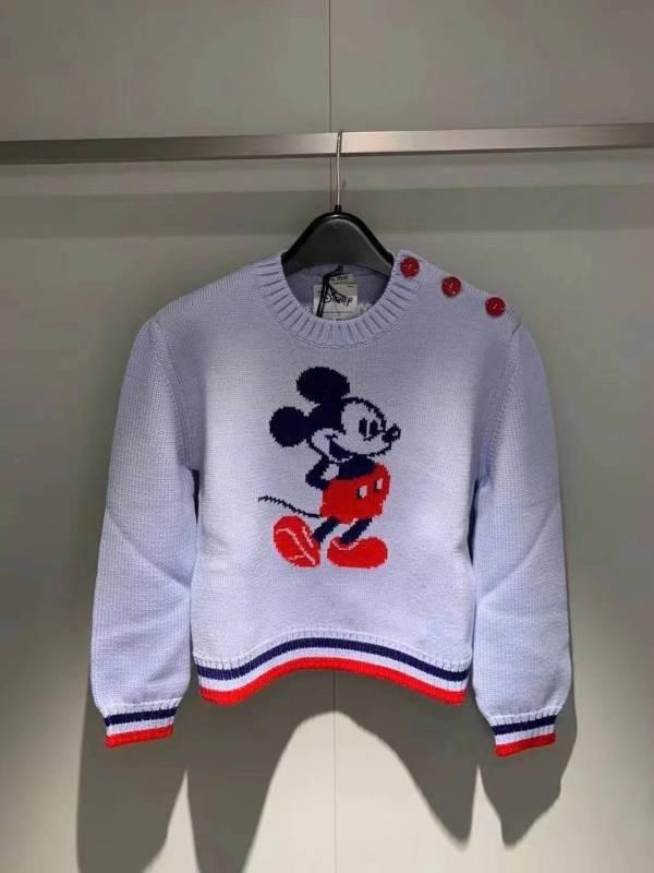 Miu Miu 女款 Disney聯乘米奇修身精紡羊毛毛衣  38 XS/ 40 S/ 42 M /44 L