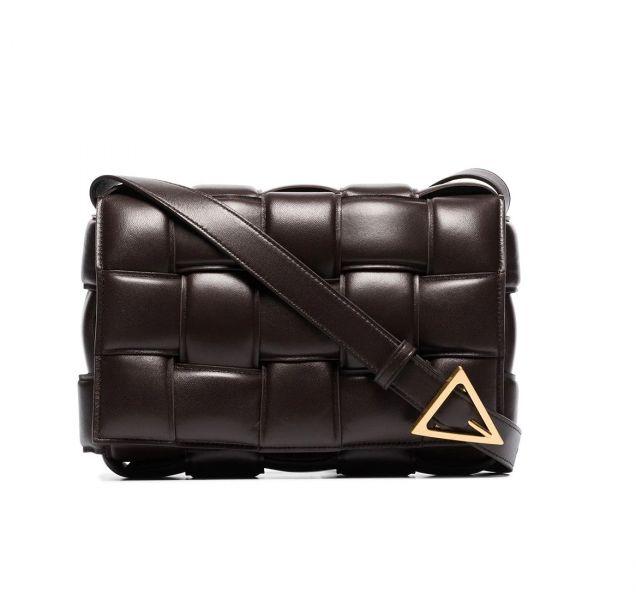 Bottega Veneta  Padded Cassette 寬編織小羊皮包  巧克力棕色  配金色鎖扣