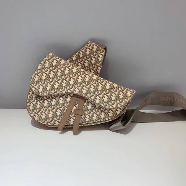 Dior 迪奧 Oblique Saddle 緹花馬鞍肩背包