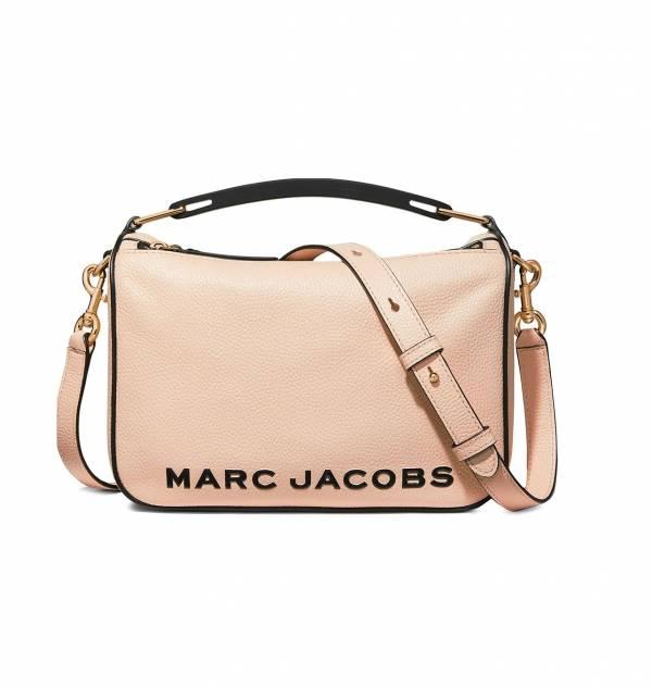 Marc Jacobs 杏桃色粒面小牛皮 Softbox 2用包