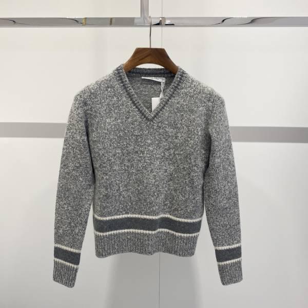 Dior 女款 V 領藍色和灰色羊絨及羊毛針織上衣  FR 36/38/40 Bottega Veneta