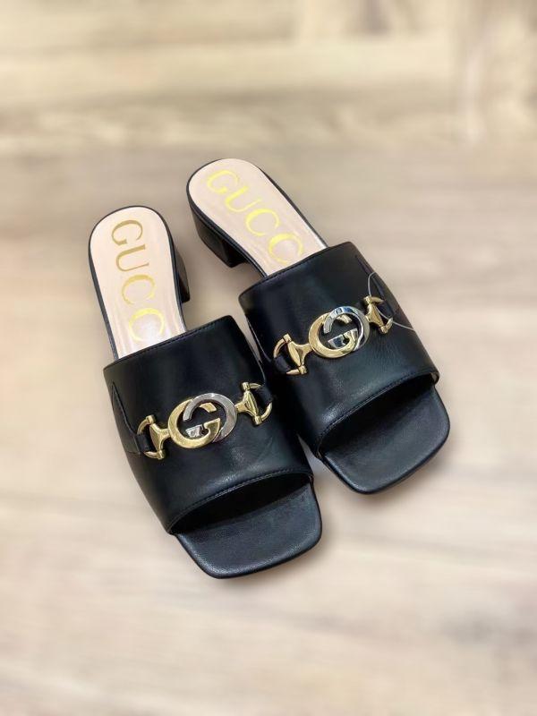 Gucci 女款 Zumi 2.5CM高 GG皮革涼鞋 黑色  IT38 LOEWE,Hammock