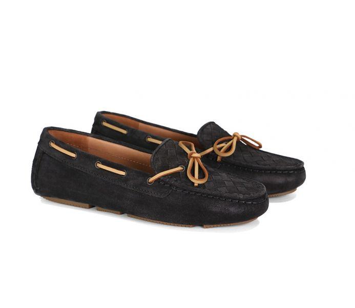 Bottega Veneta 女款 283058 黑色小羊皮編織樂福鞋  IT 35/36/41