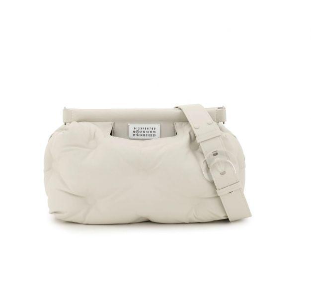 Maison Margiela 小羊皮中款 Glam Slam 雲朵包  象牙白色 Bottega Veneta