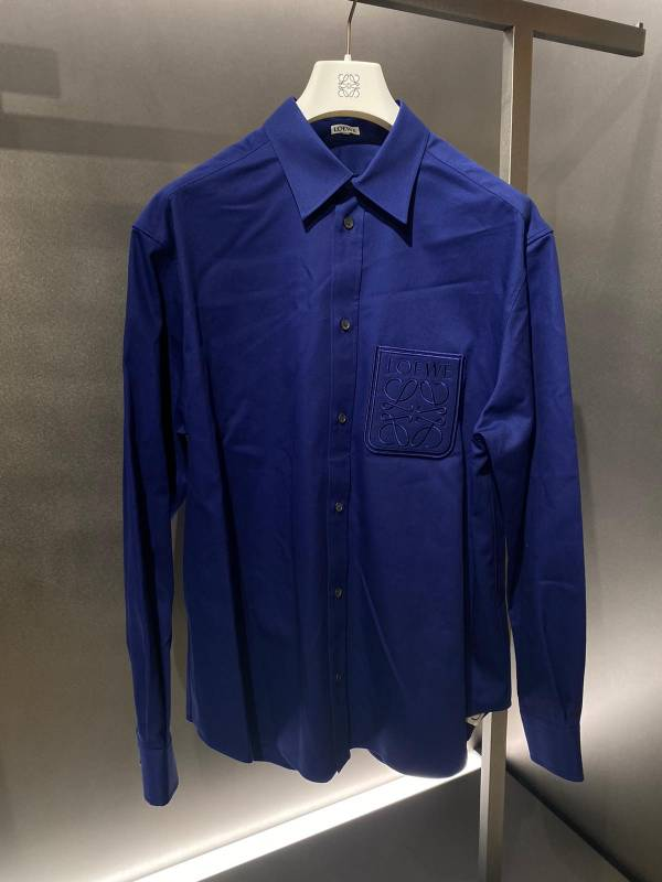 Loewe 男款棉質 Anagram 襯衫上衣    39 M/40 L/41 XL
