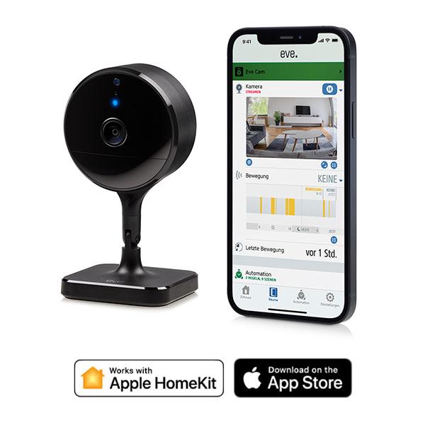 EVE Cam  安全室內攝像機 /藍牙低能耗 / 黑色(Apple HomeKit iOS) 西格瑪智慧管家,IOT,安防管家,智能管家,電工管家,智能家庭,Smarthome,Google 智能音箱,小米智慧家庭,Apple Homekit eve,