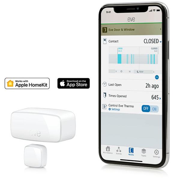EVE Door & Window 門窗感測器 /藍牙低能耗 /白色(Apple HomeKit  iOS) 西格瑪智慧管家,IOT,安防管家,智能管家,電工管家,智能家庭,Smarthome,Google 智能音箱,小米智慧家庭,Apple Homekit eve,