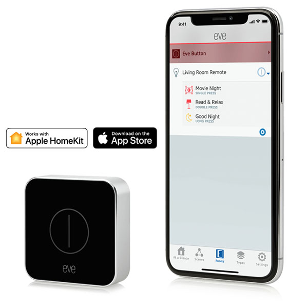 EVE Button 按鍵 /藍牙低能耗(Apple HomeKit / iOS 西格瑪智慧管家,IOT,安防管家,智能管家,電工管家,智能家庭,Smarthome,Google 智能音箱,小米智慧家庭,Apple Homekit eve,
