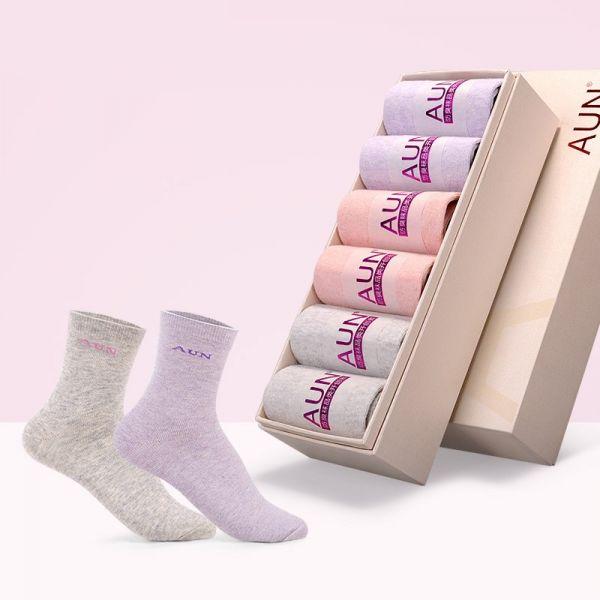 【6雙】女士純棉素色除臭襪 H201 AUN,除臭襪,消滅腳臭,腳臭,襪子,女襪,除臭襪推薦,中筒襪,機能襪,休閒襪,船型襪,防臭襪