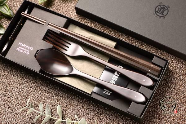 「MARUNAO」烏木餐具組 MARUNAO,餐具組,日本餐具,日本筷子,日本精品,