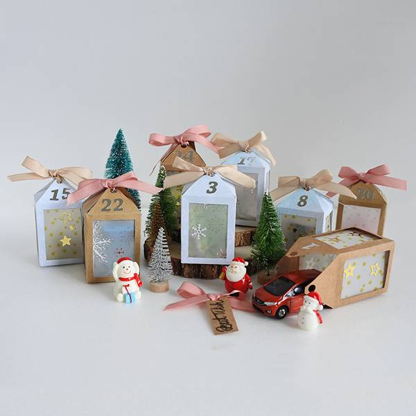 一閃一閃~聖誕倒數吊飾盒 聖誕節,倒數盒,燈飾,DIY,禮物,手作,家居布置