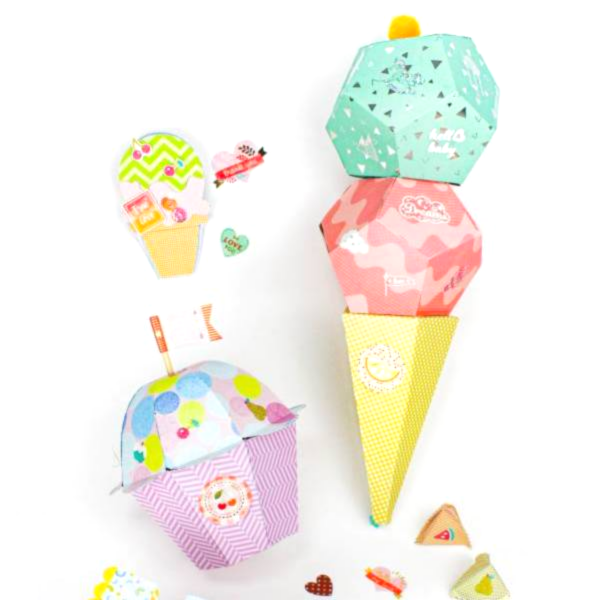 Sweet, Colorful and FUN!Surprise in! Ice cream cone
