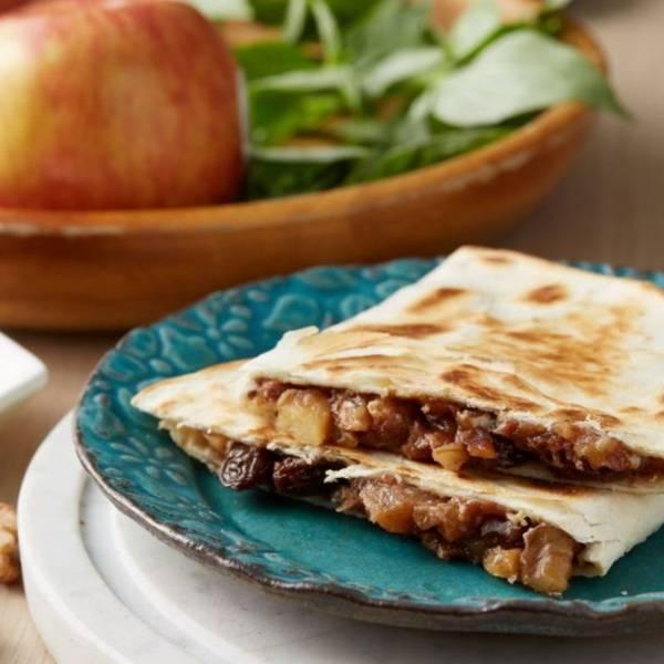 墨美味|蜂蜜肉桂蘋果餡餅] [奶素可] [1入] [135g] [20cm半圓] 新鮮蘋果,核桃,葡萄乾,蜂蜜,甜餡餅,奶素,蘋果派,墨美味,墨西哥餡餅