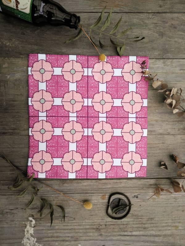 短毛纖維花磚系列方巾-IM06 方巾,毛巾,花磚,盥洗用品