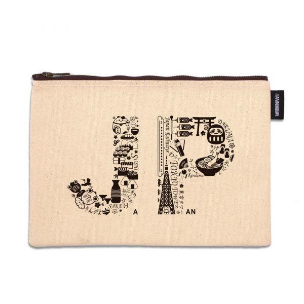 東京系列 - 日本插圖 - 拉鍊包 臺南,合成帆布,拉鍊包,萬用包