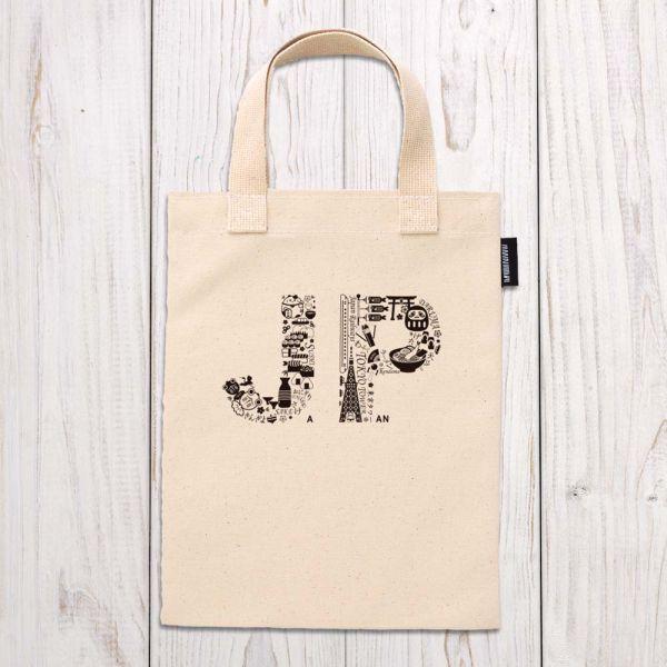 東京系列 - 日本插圖 - 手提袋 臺南,合成帆布,手提袋,布包,UV印刷,原印臺南,HAND BAG,日本,插圖,黑白線條