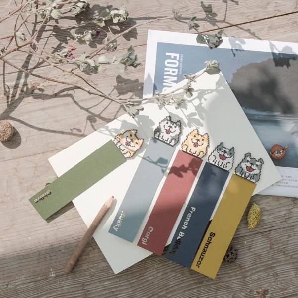 栞栞木木製書籤-復古8bit寵物款 書籤,書本,禮物,紀念品,寵物,栞栞木,木頭書籤,寵物書籤,復古8-bit