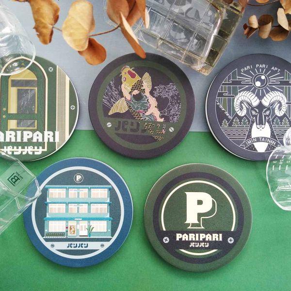 陶瓷吸水杯墊-Paripari apt. 聯名款 小物,禮物,紀念品,臺南,Paripari,聯名款