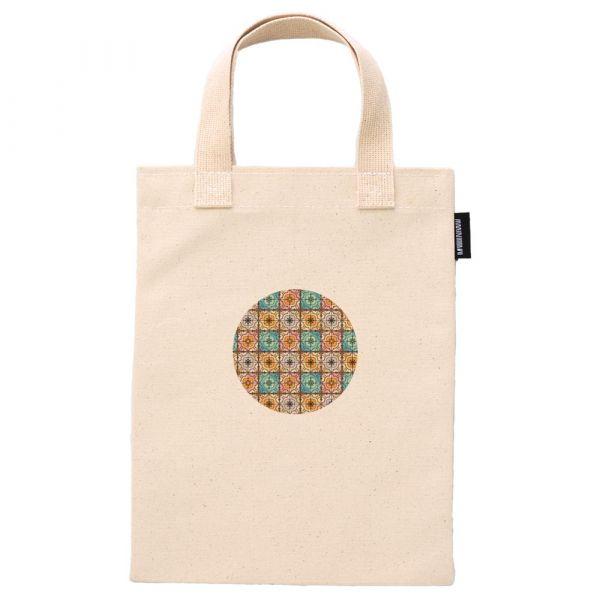 花磚鑲嵌系列 - 排列02- 合成帆布手提袋 臺南,合成帆布,手提袋,布包,UV印刷,原印臺南,HAND BAG,花磚