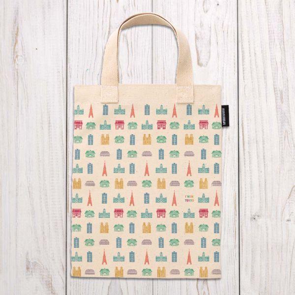 東京系列 - 東京建築排列 - 手提袋 臺南,合成帆布,手提袋,布包,UV印刷,原印臺南,HAND BAG,日本,東京,建築,排列組合