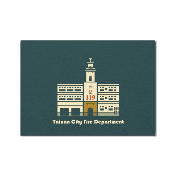 明信片-彩色建築系列 臺南,明信片,旅行紀念,古蹟建築,彩色建築