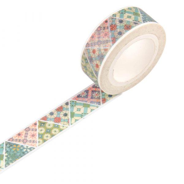 花磚系列 - 三角綜合花磚 - 紙膠帶 紙膠帶,手帳,臺南,禮物包裝,日本和紙