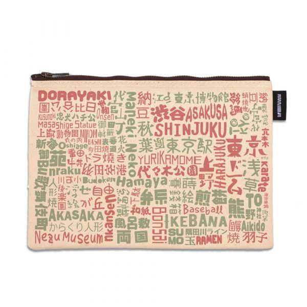 東京系列 - 日本文字拼貼 - 拉鍊包 臺南,合成帆布,拉鍊包,萬用包