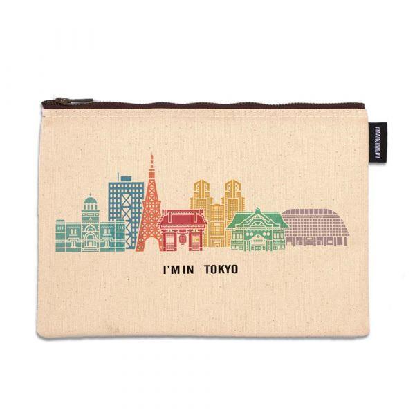 東京系列 - 東京建築(彩色) - 拉鍊包 臺南,合成帆布,拉鍊包,萬用包