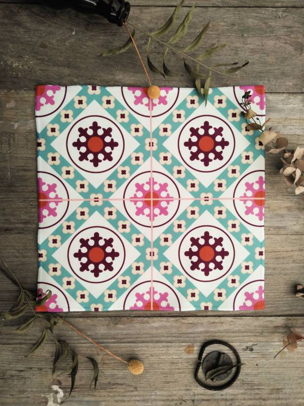 短毛纖維花磚系列方巾-IM03 方巾,毛巾,花磚,盥洗用品