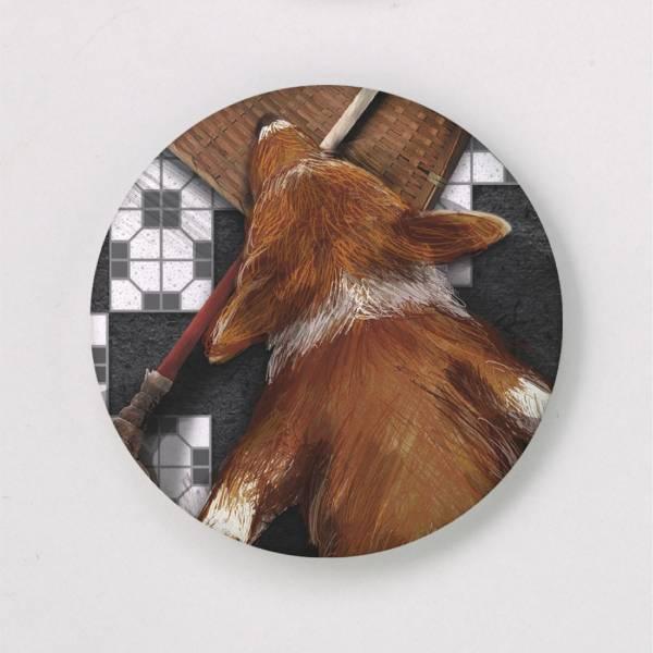 胸章-缺磚寵物系列(大) 徽章,胸章,別針,花磚,寵物