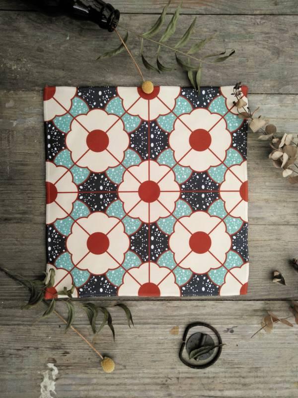 短毛纖維花磚系列方巾-IM04 方巾,毛巾,花磚,盥洗用品