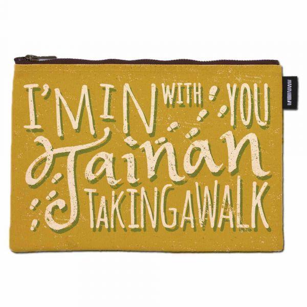 散步臺南 - 合成帆布拉鍊包 臺南,合成帆布,手提袋,台灣真,英文